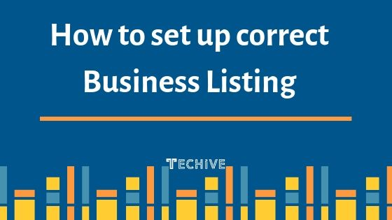 How to set up correct business listing in India